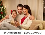 christmas  holidays and family... | Shutterstock . vector #1193269930