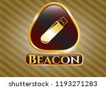 gold badge with flash drive... | Shutterstock .eps vector #1193271283