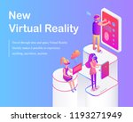 new virtual reality poster... | Shutterstock .eps vector #1193271949