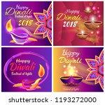 happy diwali festival of light... | Shutterstock .eps vector #1193272000