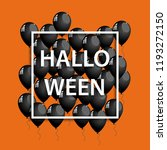 halloween frame with black... | Shutterstock . vector #1193272150