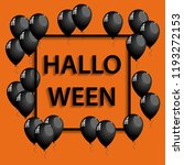 halloween frame with black... | Shutterstock . vector #1193272153
