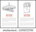fast food french fries and... | Shutterstock .eps vector #1193272750