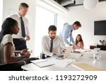 businessmen and businesswomen... | Shutterstock . vector #1193272909
