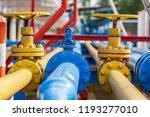 valves at gas plant | Shutterstock . vector #1193277010