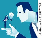 investor. a small businessman... | Shutterstock .eps vector #1193278243