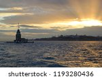 bosphorus and maiden's tower at ... | Shutterstock . vector #1193280436