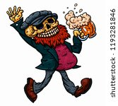 happy comical skeleton with a... | Shutterstock .eps vector #1193281846