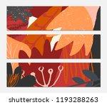abstract autumn banner design.... | Shutterstock .eps vector #1193288263