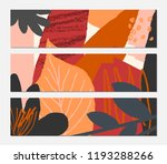 abstract autumn banner design.... | Shutterstock .eps vector #1193288266