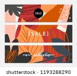 autumn sale banner design.... | Shutterstock .eps vector #1193288290