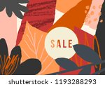 autumn design with abstract... | Shutterstock .eps vector #1193288293