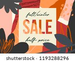 autumn design with abstract... | Shutterstock .eps vector #1193288296