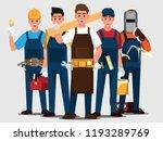 repairman set people teamwork ... | Shutterstock .eps vector #1193289769
