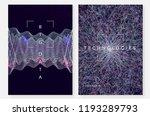 quantum computing background.... | Shutterstock .eps vector #1193289793