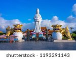 Guanyin on top of Chung Cheng park in keelung, taiwan