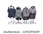 four set of different clothes... | Shutterstock . vector #1193293339