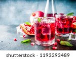 fall cold beverage ideas ... | Shutterstock . vector #1193293489
