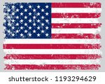 old dirty american flag.grunge... | Shutterstock .eps vector #1193294629