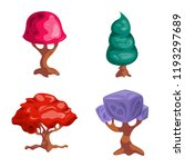 vector illustration of tree and ...   Shutterstock .eps vector #1193297689