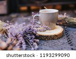 coffee cup on table. good... | Shutterstock . vector #1193299090