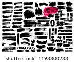 giant set of brush strokes.... | Shutterstock .eps vector #1193300233