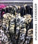 female fur coat jacket on... | Shutterstock . vector #1193303209