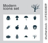 season icons set with tree  oak ... | Shutterstock .eps vector #1193303809
