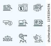 engine icons line style set... | Shutterstock .eps vector #1193304196