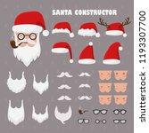 vector santa constructor. santa ... | Shutterstock .eps vector #1193307700