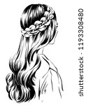 romantic and chic female... | Shutterstock .eps vector #1193308480