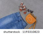 fashion accessories with... | Shutterstock . vector #1193310823