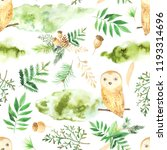seamless pattern with green... | Shutterstock . vector #1193314696