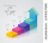 stair infographics design... | Shutterstock .eps vector #1193317000