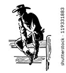 rodeo cowboy   retro clipart...   Shutterstock .eps vector #119331883
