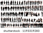 set of silhouette people  man... | Shutterstock .eps vector #1193319283