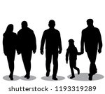 silhouettes people go  man and... | Shutterstock .eps vector #1193319289