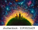 original oil painting little... | Shutterstock . vector #1193321629