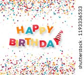 happy birthday holiday banner.... | Shutterstock .eps vector #1193336533