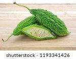 bitter melon or bitter gourd... | Shutterstock . vector #1193341426