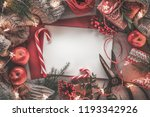 christmas letter fruits gift... | Shutterstock . vector #1193342926