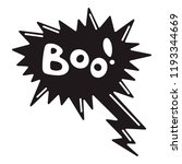 boo speech bubble icon. simple... | Shutterstock .eps vector #1193344669