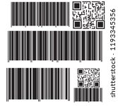 realistic bar code icon. a...   Shutterstock .eps vector #1193345356