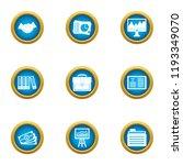 business publication icons set. ...   Shutterstock .eps vector #1193349070