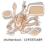 group of hands and speech... | Shutterstock .eps vector #1193351689