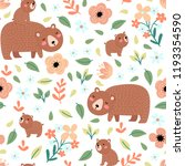seamless pattern with cute... | Shutterstock .eps vector #1193354590