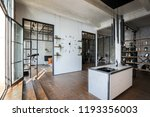 luxury studio apartment with a... | Shutterstock . vector #1193356003