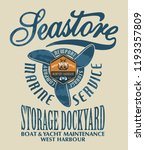 sea store marine nautical... | Shutterstock .eps vector #1193357809