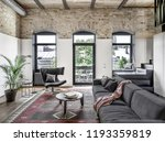 interior in a loft style with... | Shutterstock . vector #1193359819