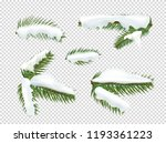 green pine tree branches with... | Shutterstock .eps vector #1193361223